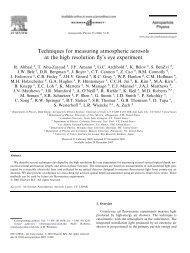 Techniques for measuring atmospheric aerosols at the high ...