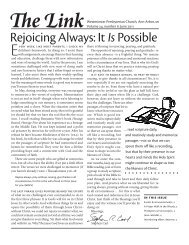 Rejoicing Always: It IsPossible - Westminster Presbyterian Church