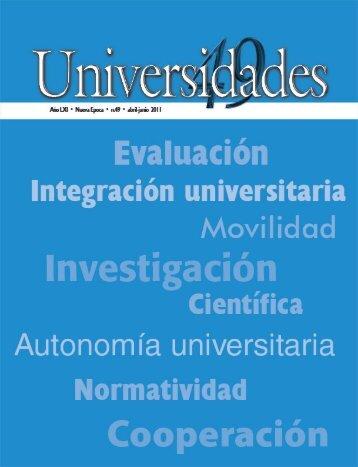 Revista Universidades Número 49, Abril - Junio de 2011 - udual