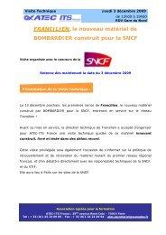 FRANCILIEN, le nouveau matériel de ... - Atec/ITS France