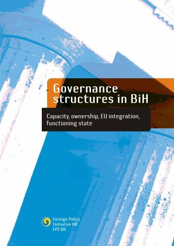 GOVERNANCE STRUCTURES IN BIH