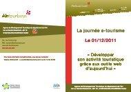 La journée e La journée e-tourisme Le 01/12/2011 Le ... - Ain-pro.com