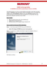 OESD Un-Encrypt Utility - Bernina Online Support Center