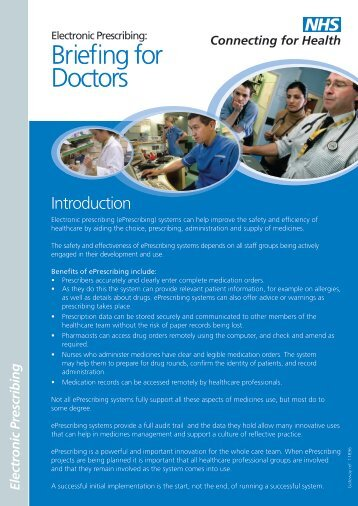 Briefing for Doctors - NHS Connecting for Health