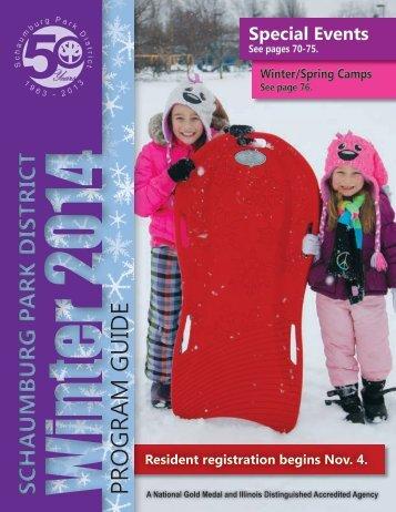 Schaumburg Park District Winter 2014 Program Guide