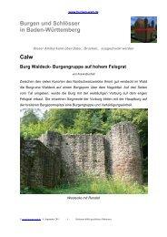 Calw Burg Waldeck - Burgen-Web.de