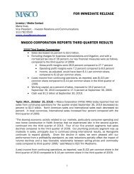 Download this Press Release (PDF 130 KB) - Masco Corporation