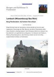 (Wissembourg/ Bas Rhin) Burg Fleckenstein - Burgen-Web.de