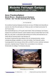 Arco (Trentino/Italien) Monte Brione - Burgen-Web.de