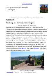 Eisenach Wartburg –die Krone deutscher Burgen - Burgen-Web.de