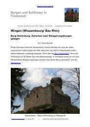 Wingen (Wissembourg/ Bas Rhin) Burg Hohenburg - Burgen-Web.de