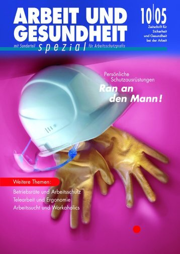 Oktober 2005 - Arbeit und Gesundheit