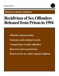 Recidivism of Sex Offendes Released from Prison in 1994