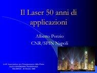 Il Laser 50 anni di applicazioni - Dipartimento di Fisica
