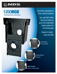 1200NGB Next Generation Catch Basin Brochure - NDS