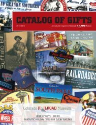 CATALOG OF GIFTS - Colorado Railroad Museum