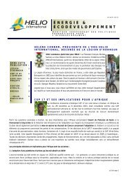 ÉNERGIE & ÉCODÉVELOPPEMENT - HELIO International
