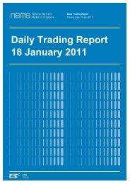 Daily Trading Report 18 January 2011 - EMC