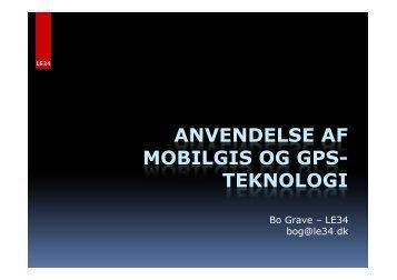 ANVENDELSE AF MOBILGIS OG GPS- TEKNOLOGI
