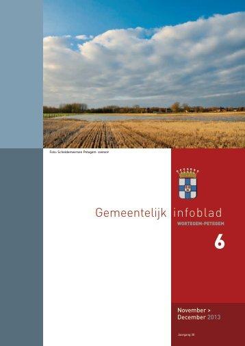 Infoblad nr. 6 : november-december 2013 - Wortegem-Petegem