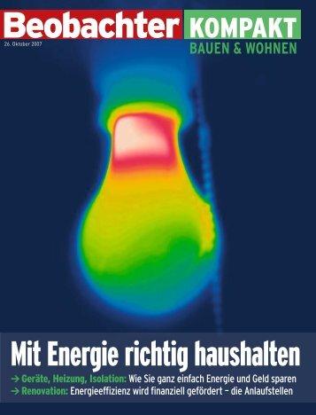 Mit Energie richtig haushalten
