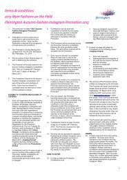 terms & conditions 2013 Myer Fashions on the ... - Melbourne Cup