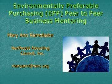 Environmentally Preferable Purchasing Peer to Peer ... - NERC