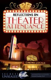 Reflections on Theater Attendance - Secrets Unsealed > Home