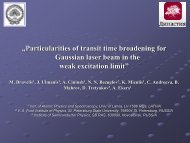 """""""Particularities of transit time broadening for Gaussian laser beam in ..."""