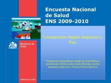 Encuesta Nacional de Salud 2010, Región de Valparaíso