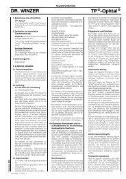 DR. WINZER TP®-Ophtal® - drwinzer.de