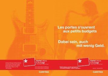 Flyer KulturLegi - Caritas Fribourg
