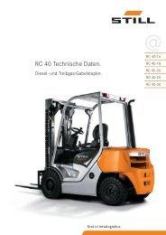 RC 40 Technische Daten. - Still GmbH