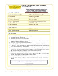BA-2061-XX – BAK (Big Air Kit) Installation Honda VTX 1300