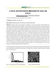 A DYE-SENSITIZED BROOKITE SOLAR CELL