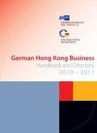 German Hong Kong Business Handbook and Directory 2010 - AHKs