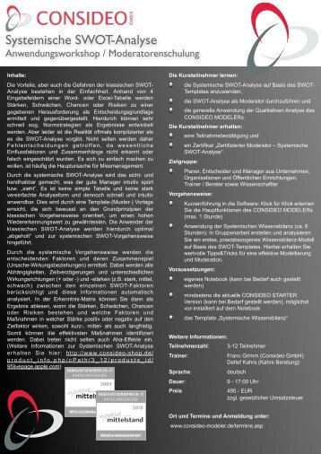 Systemische SWOT-Analyse - Consideo GmbH