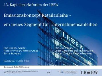 Emissionskonzept Retailanleihe – ein neues Segment für ...