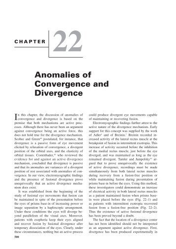 Chapter 22: Anomalies of Convergence and Divergence