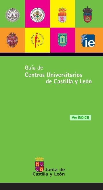 Guía de Centros Universitarios de Castilla y León - Universidad de ...