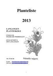 KJÆRE GAMLE OG NYE KUNDER - Langangen planteskole