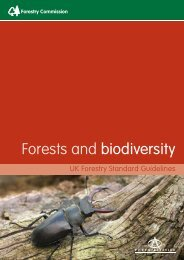 Forests and biodiversity - Forestry Commission