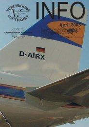 April 2005 - Vereinigung Luftfahrt eV