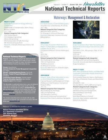 October 2011 - Waterways: Management & Restoration - National ...