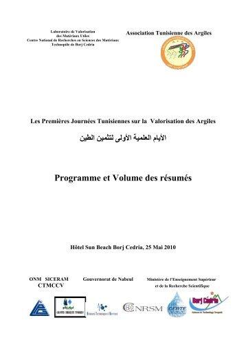 Programme et Volume des résumés