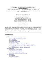 Ordnung für die Akademische Abschlussprüfung ... - ZSB