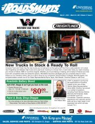 Contact Universal Truck & Trailer, Parts Dept, Dieppe