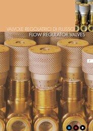 flow regulator valves valvole regolatrici di flusso - Total Hydraulics BV