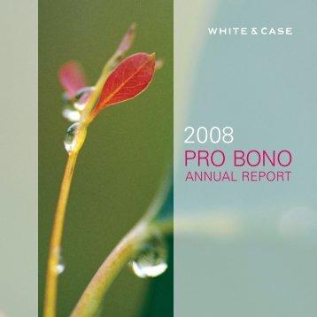 PRO BONO - White & Case