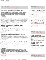 e.Lettre n°52 juin 2013 (pdf) - Arcade PACA